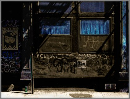 Title: Tribeca Blue Alley--Medium: Color Photography on archival paper--By DSC 2015