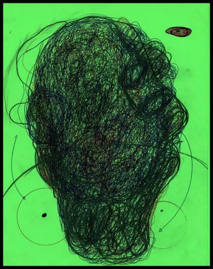 Works On Paper Drawings | DSC-1998-2002, Ballpoint pen on bristol board