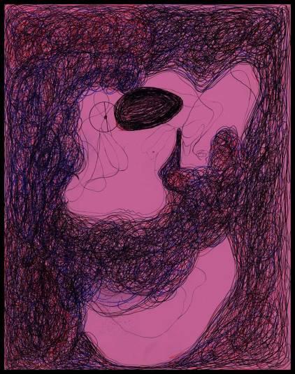 Works On Paper Drawings | DSC-1998-2002,Ballpoint pen on bristol board