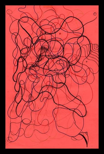 DSC, Pen on sketch paper. 6'x9'in 1998-2002