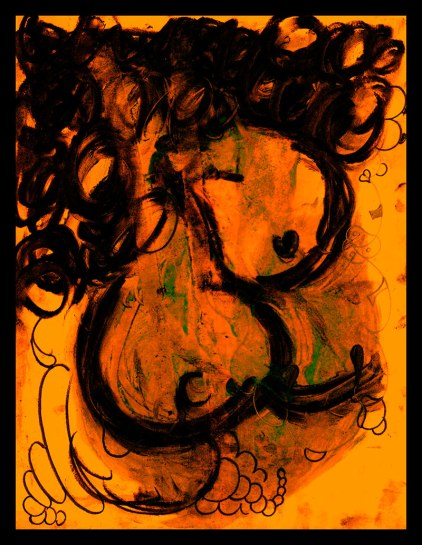 Works On Paper | Medium: Mix media on oil stained 8.5x11in stationary paper | ( 2004 ) by DSC