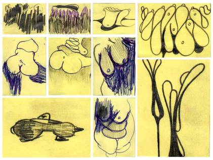 Post-It-drawings by DSC (2004)