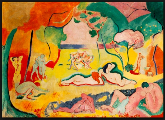 "Matisse_""TheJoyofLife""_1905 Oil on Canvas"